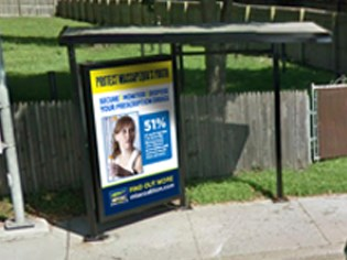 MTAC Secure Monitor Dispose Bus Shelter Ad