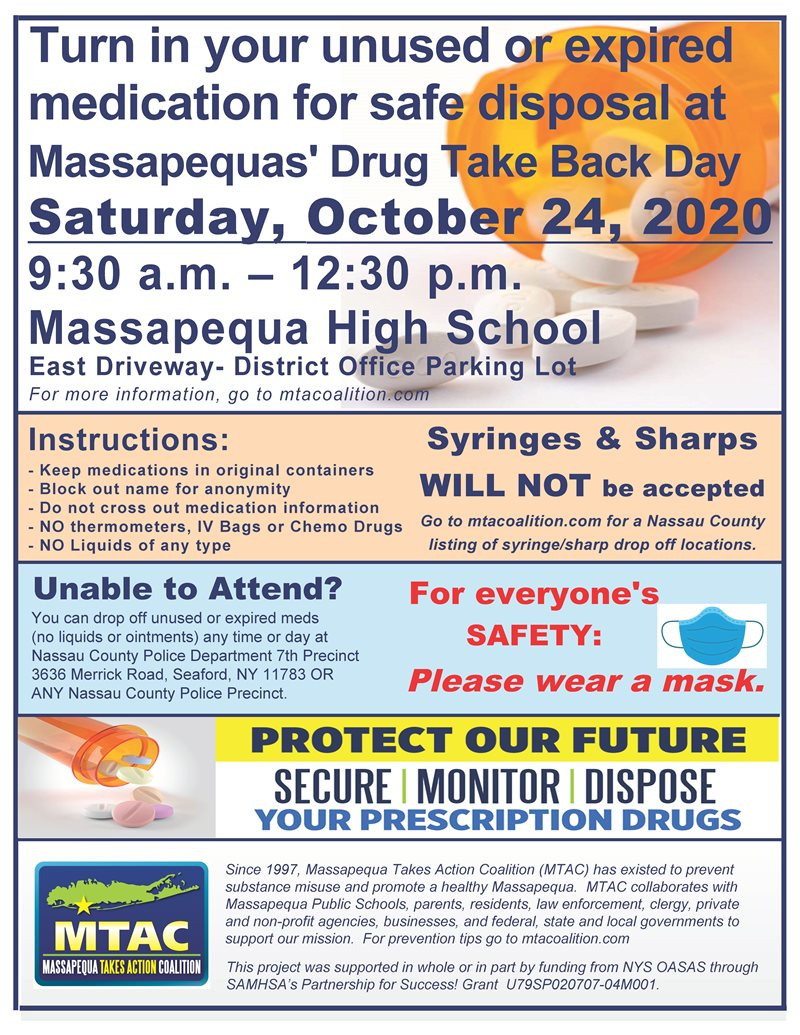 MTAC Fall Drug Take Back Day